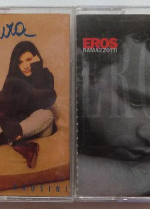 Кассеты аудио фирменные Eros Ramazzotti и Laura Pausini