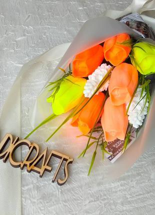 Тюльпаны. Ручной букет тюльпанов. Цветы на подарок.
