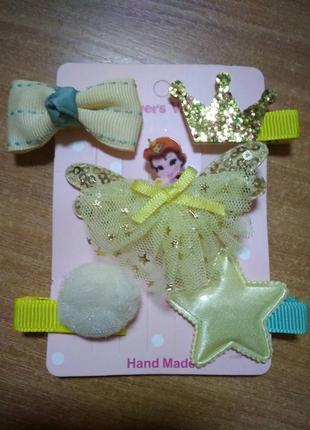 Набор заколок для девочки с принцессой бель, 5 штук разных