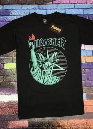 Футболка thrasher liberty goat • топ качество• футболка черная...
