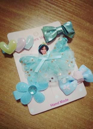 Набор заколок для девочки с принцессой жасмин, 5 штук разных