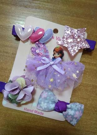 Набор заколок для девочки с принцессой софией, 5 штук разных
