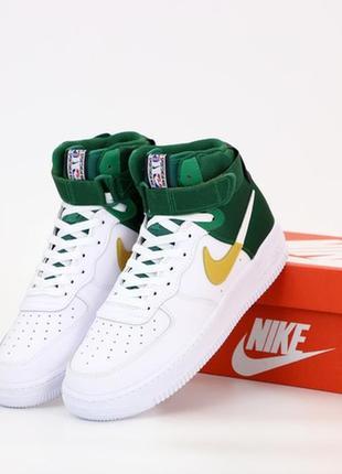 Nike air force high white green, мужские высокие кроссовки най...