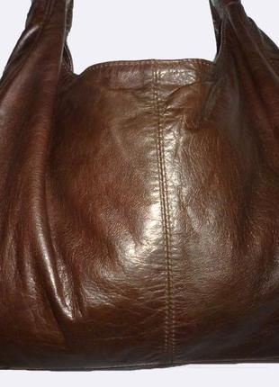 Стильная большая сумка натуральная мраморная  кожа