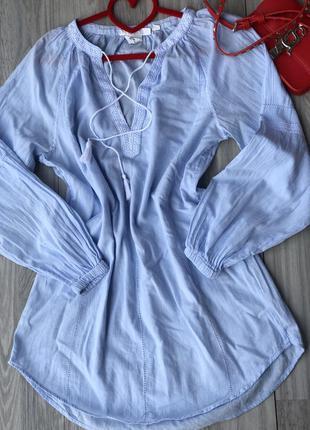 Хлопковый сарафан платье s logg h&m