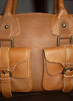 Стильная сумка натуральная кожа globus