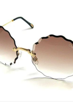 Очки солнцезащитные женские коричневые Chloe 5508 сн2
