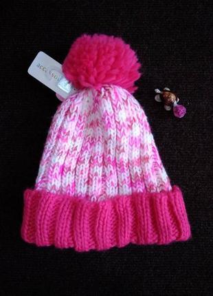 Теплая шапочка девочке нежного цвета, на рост 158/182, фирма c&a