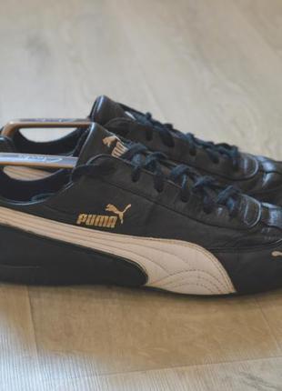 Puma мужские кожаные кроссовки черные оригинал