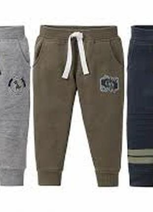 Модные штаны джоггеры на флисе для мальчика р. 110 116 lupilu ...