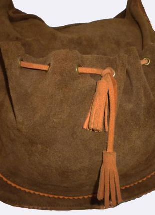 Стильная сумка натуральная замшевая кожа ouisiana