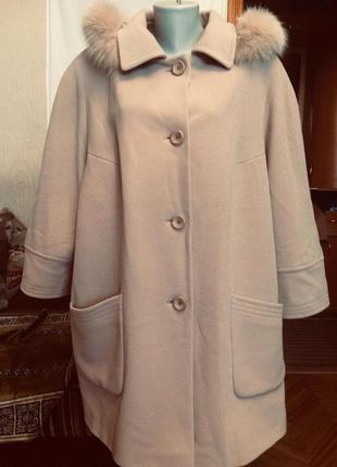 Пальто с капюшоном,шерсть+кашемир,от бренда bexleys excclusiv+...