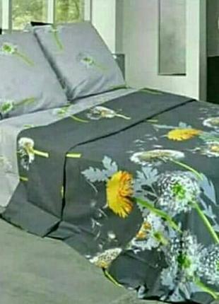 Очень красивый 2-спальный набор, есть евро, красивые одуванчики