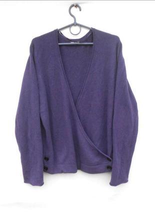 100% кашемировый  свитер джемпер на запах с длинным рукавом jj...