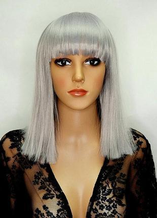 Парик пепельный серый цветные парики