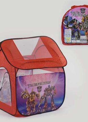 Детская игровая палатка 8009 TF Трансформеры размер 114х102х112