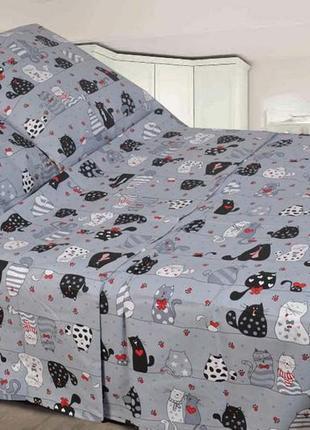 Стильное постельное белье мурчики котики, в наличии детский по...