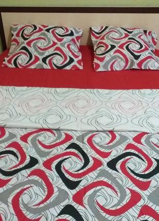 Яркое и стильное 2 спальное постельное бельё, хлопок, новое