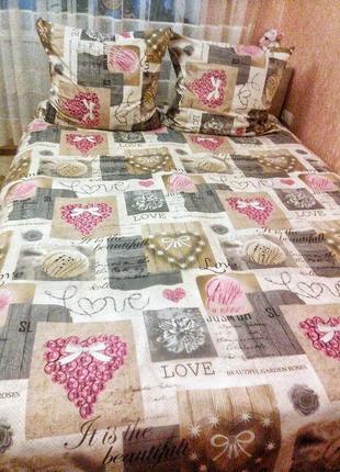 Очень красивый постельный набор, стильный принт, несколько наб...