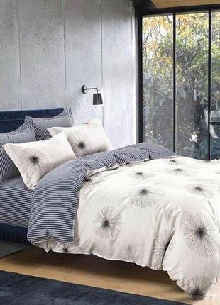 2-спальный постельный набор, очень стильное сочитание принтов