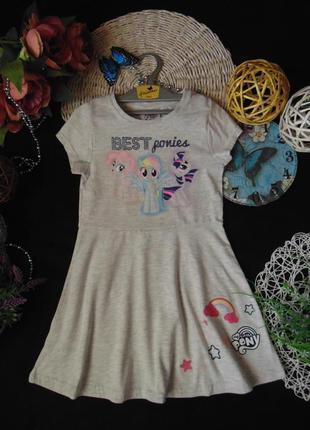 6-7лет.лёгкое платье my little pony.