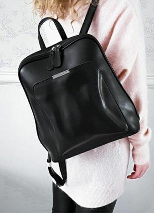 Кожаный рюкзак сумка трансформер женская портфель кожаный