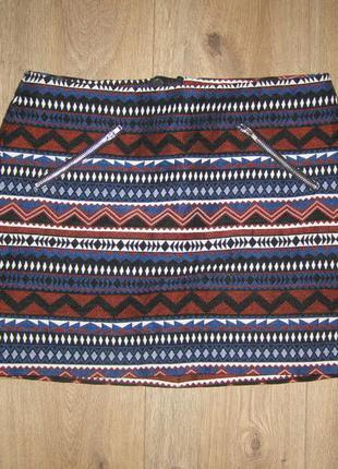 H&m мини юбка жаккардовая, р.38