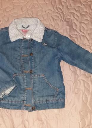 Джинсовая курточка мальчику на 4-6 лет от глория джинс, хорошая