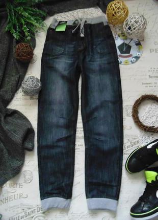 13лет.модные джинсы джоггеры no fear.