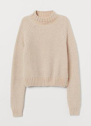 Пудровый нежно-розовый пильный вязаный плюшевый велюровый свитер