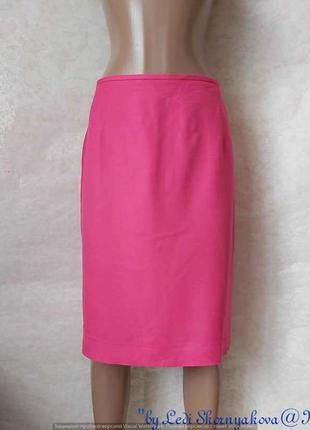 Новая юбка миди карандаш в сочном розовом цвете с льна и виско...