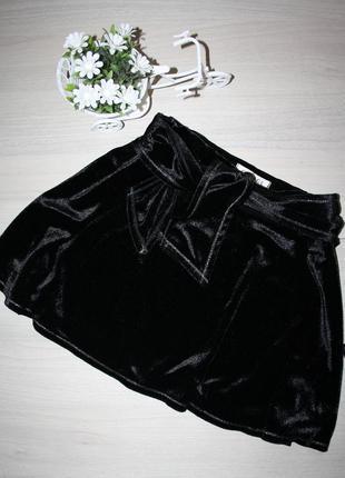 Велюровая юбочка для девочки в школу 134-140 р