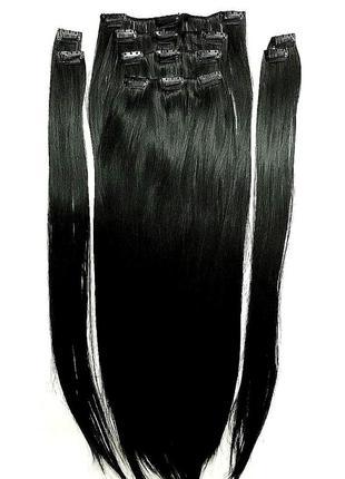 Волосы на заколках 70 см термо трессы искусственные