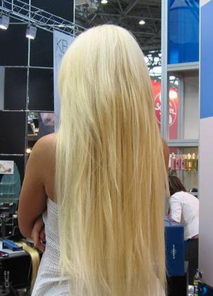 Трессы на заколках блонд