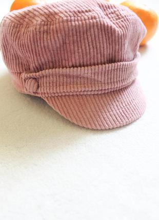 Детская вельветовая кепочка на девочку, 7-10 лет