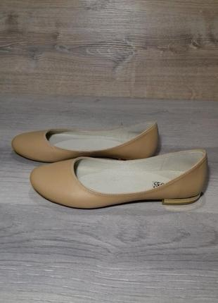 Женские кожаные балетки 37 размера  /шкіряні балетки