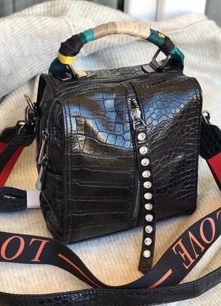 Новинка сумка женская love два ремешка