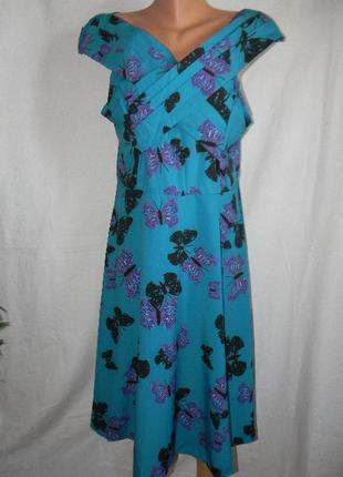 Новое красивое платье с бабочками