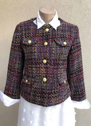 Винтаж,твидовый жакет,пиджак,блейзер,в стиле шанель ,