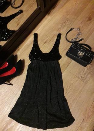 Мерцающее платье,сарафан,туника с лифом из пайеток