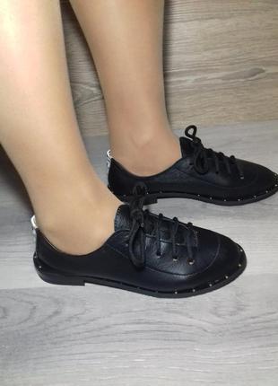Кожаные туфли женские , кожаные мокасины 37 размера / шкіряні ...
