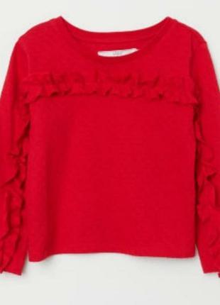 Красный реглан кофточка для девочки h&m 1.5-2 года
