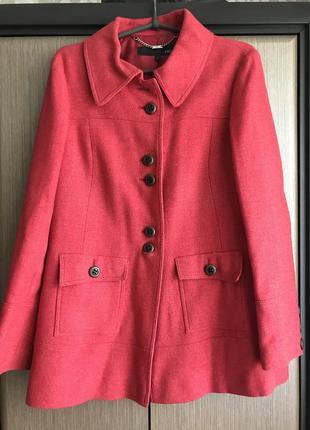Пальто красное next