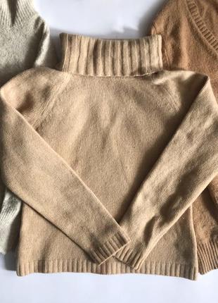 Шерстяной бежевый свитер / гольф