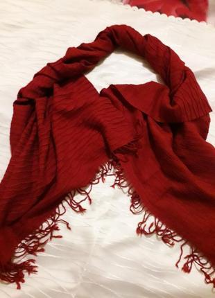 Шарф-палантин т/красного цвета