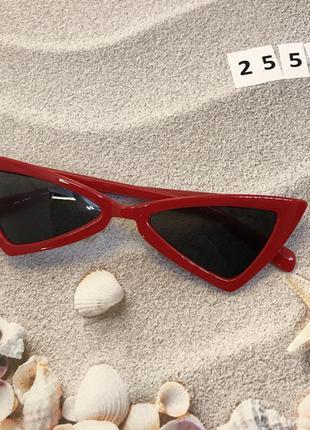 Модные красные ретро очки солнцезащитные к. 2553