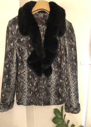 Эффектная куртка из натуральной кожи