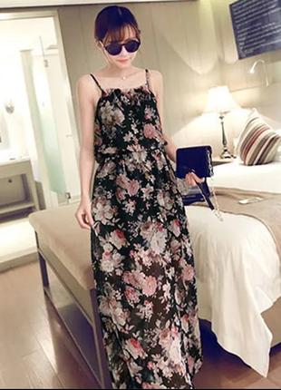 Трэндовое платье в цветочный принт
