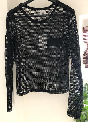 Дерзкая блуза-сетка h&m