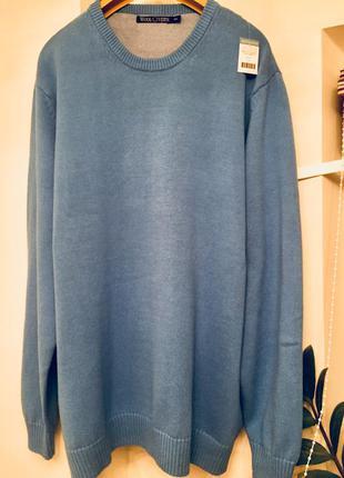 Фирменный мужской свитер большого размера